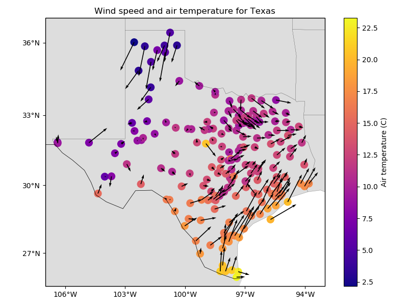 Wind speed data from Texas — Verde